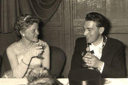 1955/56 S.M. Fredy I. und Königin Annemarie Hess
