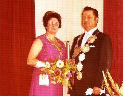 1974/75 S.M. Rudi I. und Königin Hanni Schulz