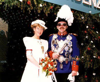 1984/85 S.M. Hans-Peter I. und Königin Martina Weiß