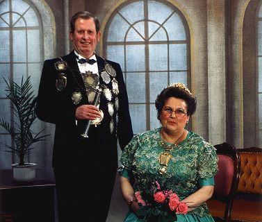 1986/87 S.M. Hans VI. und Königin Finni Schmitz