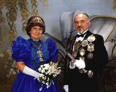 1987/88 S.M. Werner I. und Königin Rosemarie Ohmann
