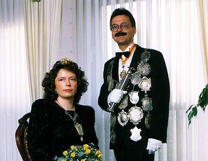 1992/93 S.M. Karl-Heinz I. und Königin Annemarie Wolf